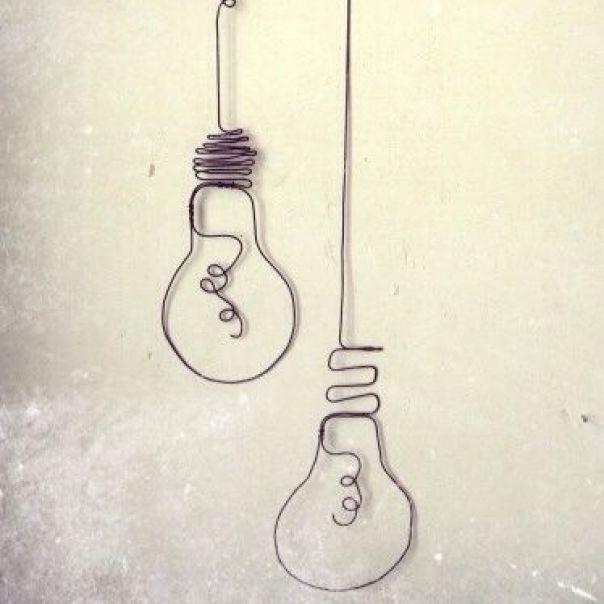2d Wire Art Light Bulb