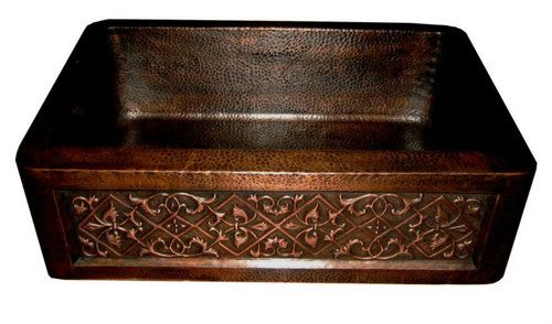 Copper Kitchen Sink With A Decorative Apron It Can Be Installed