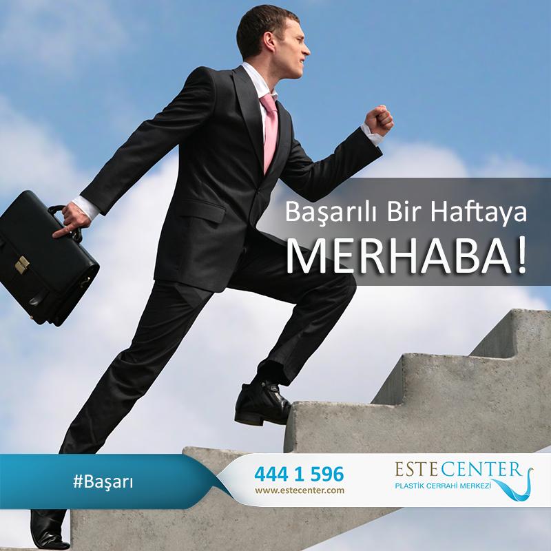 Başarının hayatınızda eksik olmadığı bir #hafta geçirmeniz dileğiyle... #İyi Haftalar www.estecenter.com - 444 1 596 #Başarı #pazartesi #salı #çarşamba #perşembe #cuma #istanbul #estecenter #sağlık #estetik