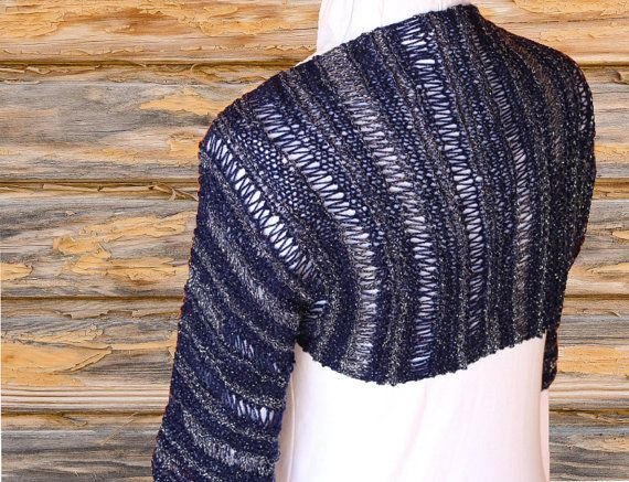 Knit Shrug Pattern Easy To Knit Using Patons Glam Stripe Yarn