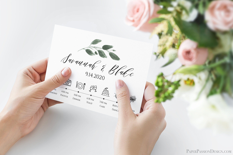 Personalized Wedding Timeline Template Wedding Day