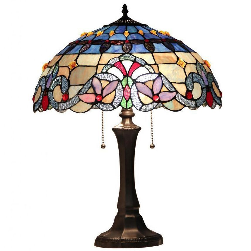 Tiffany Style Lamp Shades Custom Chloe Tiffany Style Victorian Design 2Light Table Lamp Beige Inspiration