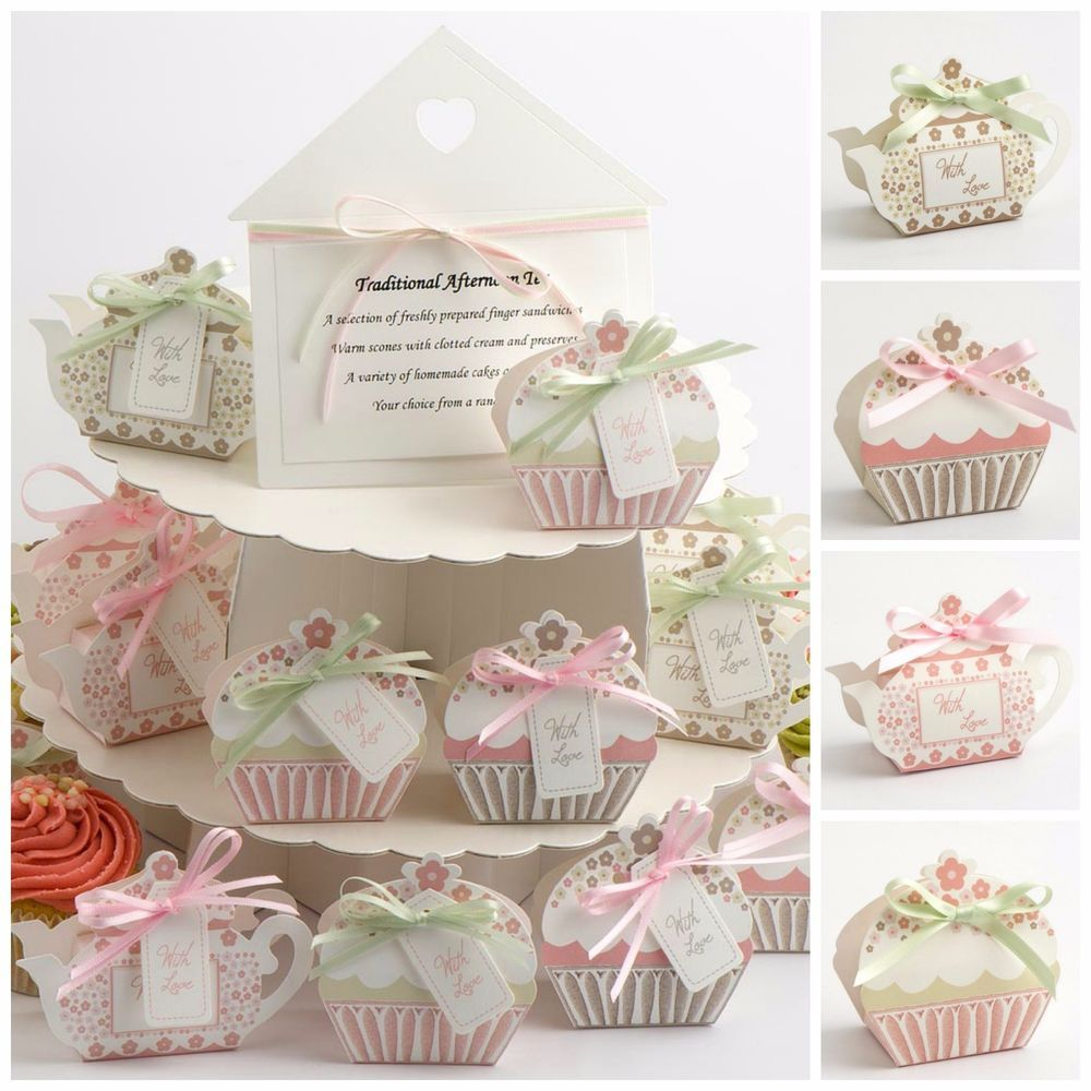 Luxury DIY Vintage Wedding Tea Party Favour Gift Boxes - With Love ...