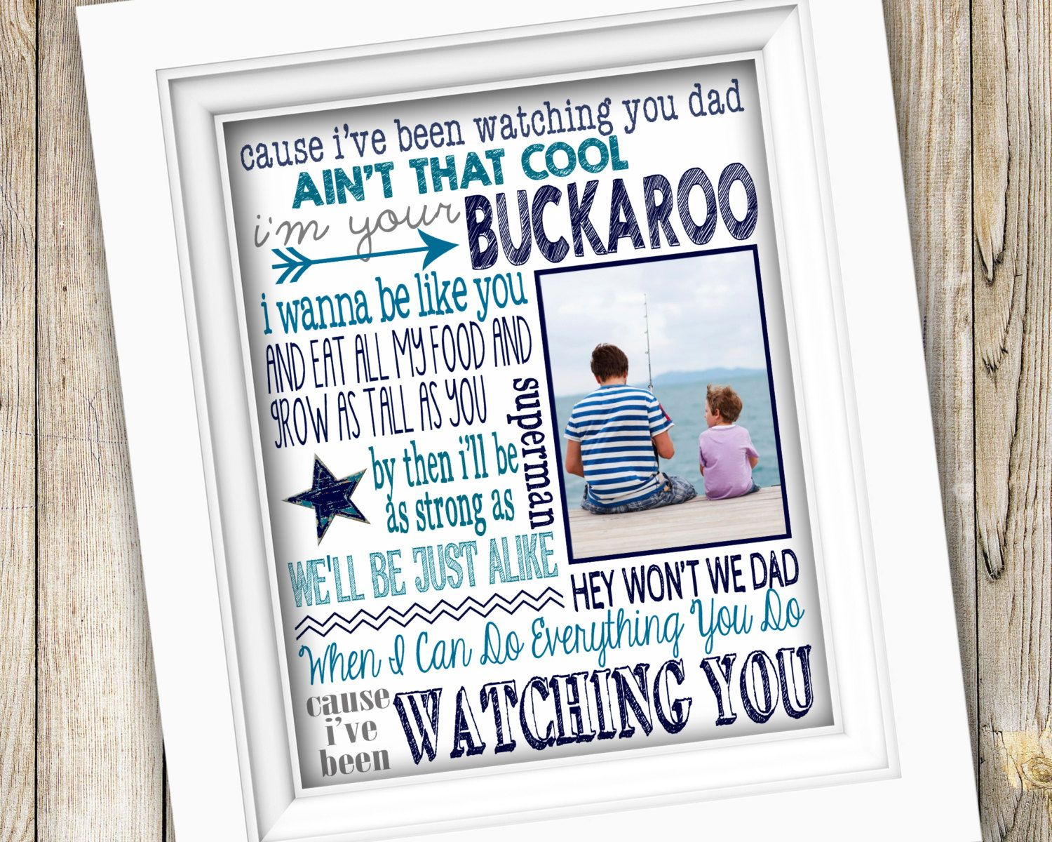 Gifts From Son To Dad Part - 16: Fatheru0027s Day Or Birthday Gift ~ Personalized Custom Printable Song Lyrics  Photo Subway Art ~ Digital