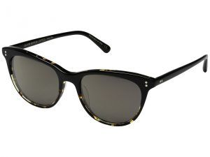 Oliver Peoples Jardinette Sun (Black/DTBK Gradient/Grey Goldtone) Fashion Sunglasses