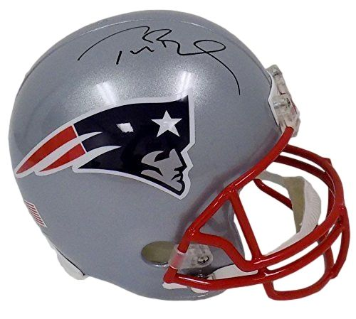 6db1579ca Tom Brady Signed New England Patriots Full Size Replica Riddell Helmet  TriStar - Sports Integrity