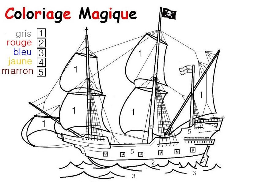 Coloriage Magique Cp Pirate.Epingle Par Pamela Arnaud Sur Apprentissage Mathematique