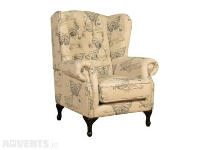 Othello Fireside Chair Butterfly Print For Sale On Adverts.ie #Chair