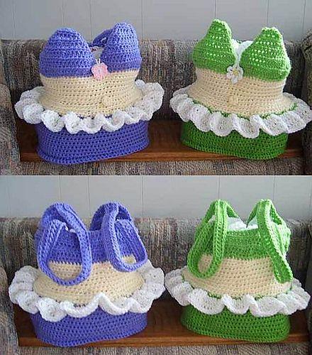 Super Cool. Ravelry: Bikini Swimsuit Bag pattern by Knotty Hooker Designs