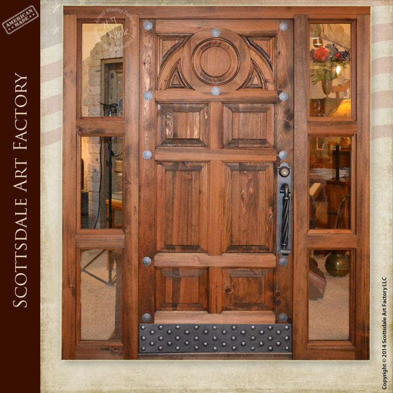 Hand Carved Door Hand Made From Solid 3 Inch Thick Wood