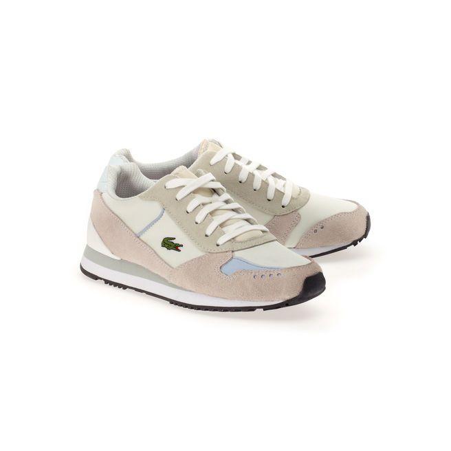e7ae9d9674d Sneakers Trajet en cuir suédé et toile - Lacoste Basket Lacoste Femme