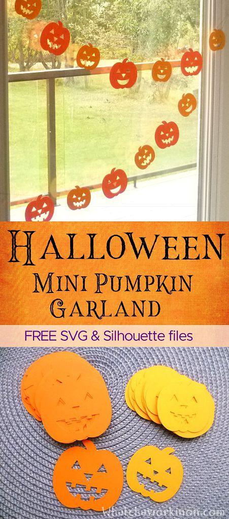 Halloween Mini Pumpkin Garland – Whatcha Workin' On?