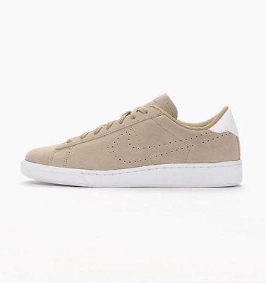 Nike Tennis Classic CS Suede Mens 829351-201 Khaki White Athletic Shoes Sz  10.5