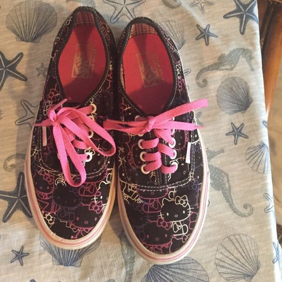 2f30401097 Vans Hello Kitty Almost Brand new. Worn once. Women s size 8. Men s ...