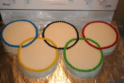 Aly's Cake Blog: OLYMPIC RINGS CAKE!! (made by Aly)