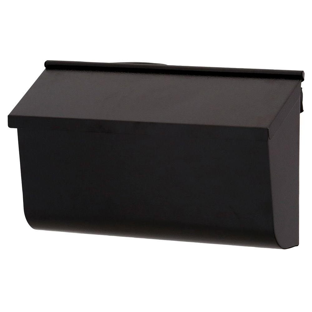 Gibraltar Mailboxes Woodlands Galvanized Steel Textured Black Wall Mount Mailbox L4010wb0 Mounted Mailbox Wall Mount Mailbox Black Walls