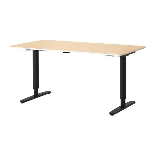 Superbe BEKANT Desk Sit/stand   Birch Veneer/black   IKEA $500 For An Adjustable  Desk? Thatu0027s Really A Great Price.