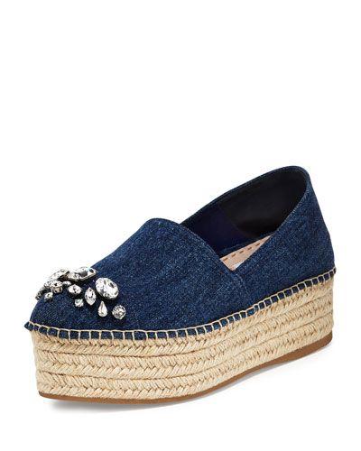 Miu Miu Denim Platform Sandals wholesale online cheap sale marketable footlocker finishline online buy cheap latest free shipping authentic Vag0POBXg