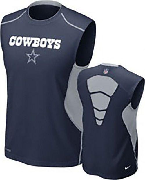 f550246f Dallas Cowboys Nike Hypercool Top Speed Sleeveless DRI-FIT| NFL ...