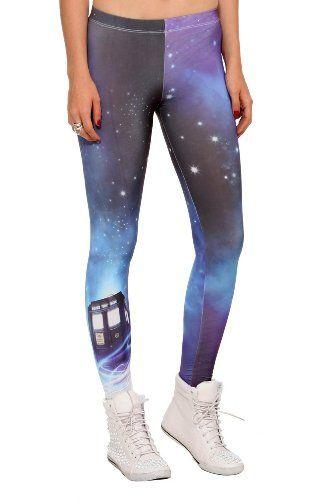dff8801da1 Amazon.com  Doctor Who Cosmic TARDIS Leggings  Clothing - Medium ...