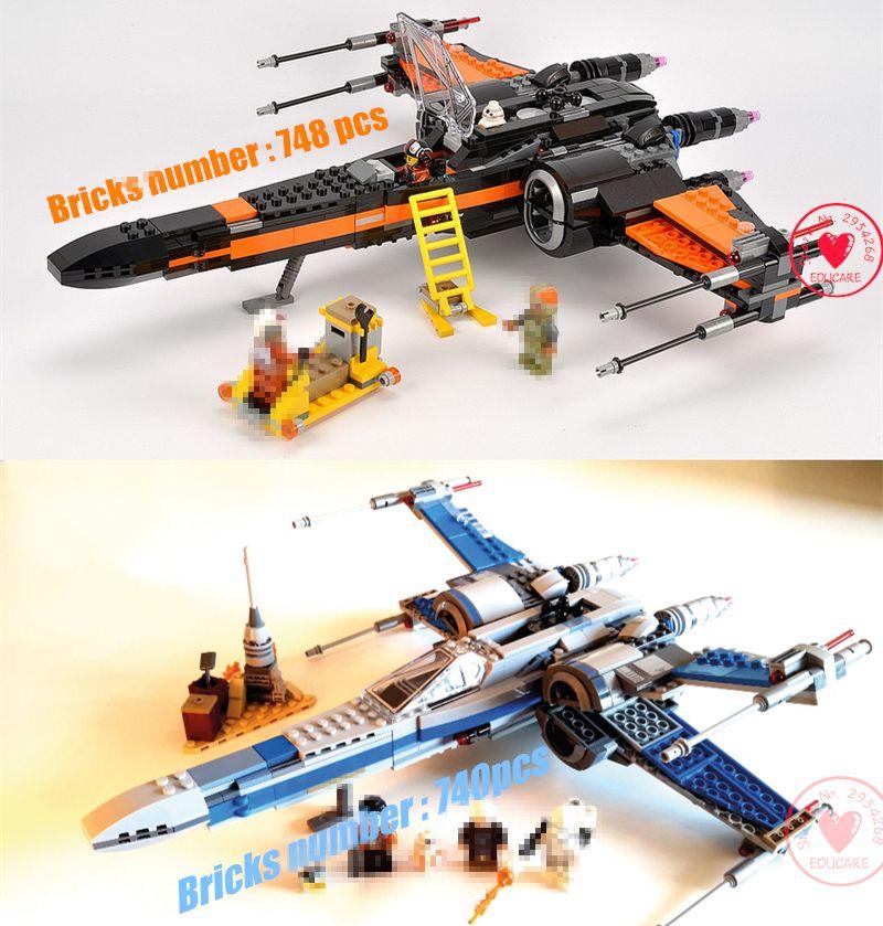 NEU Star Wars Building Blocks Model First Order Poe/'s X Wing Fighter Wars Junge
