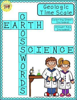 Geologic Time Scale Print And Go Crossword Puzzle Coloring Sheet