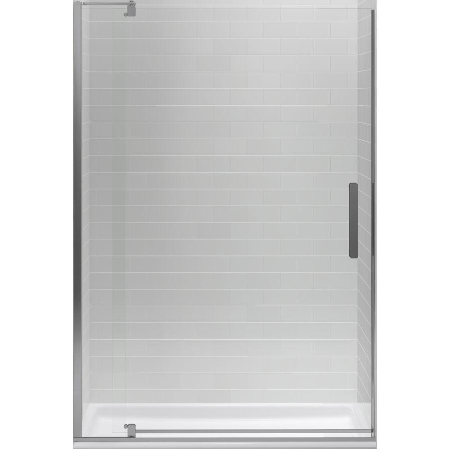 Shop Kohler Revel 43 125 In To 48 In Silver Frameless Pivot Shower