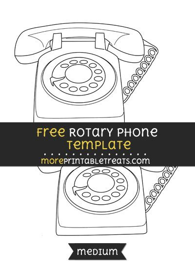 Free Rotary Phone Template - Medium Shapes and Templates - phone roster template