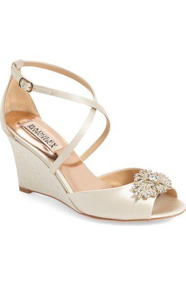 8dc76a143ca BADGLEY MISCHKA  Abigail  Peep Toe Wedge (Women).  badgleymischka  shoes