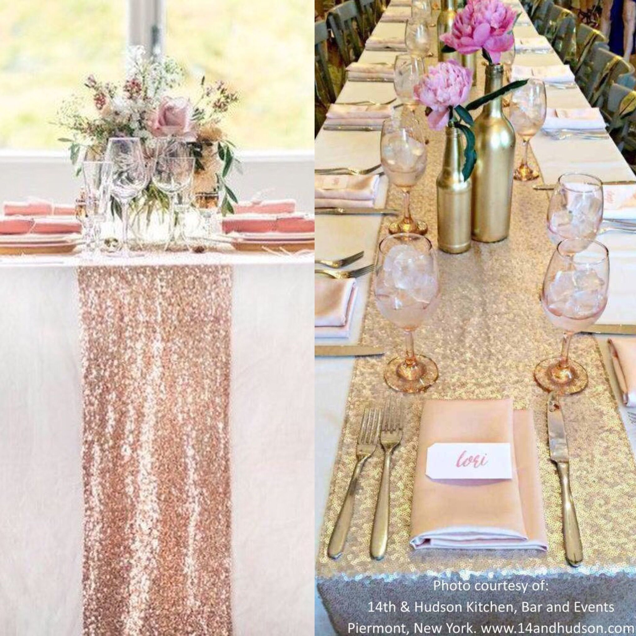 Wedding decorations gold and pink  Best site to buy sequin runners and other wedding decorations Cheap