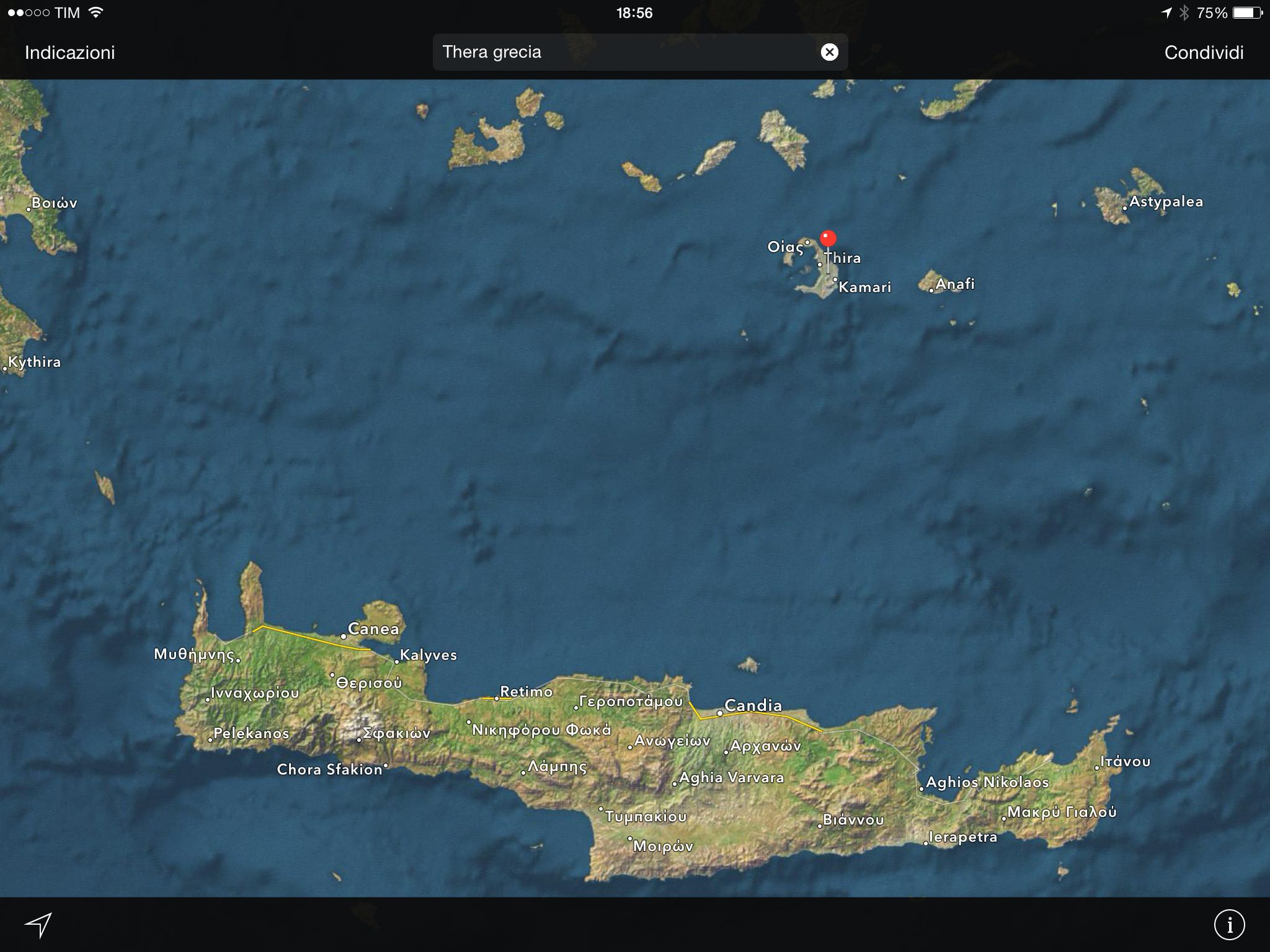 Creta - Thera: collocazioni geografiche
