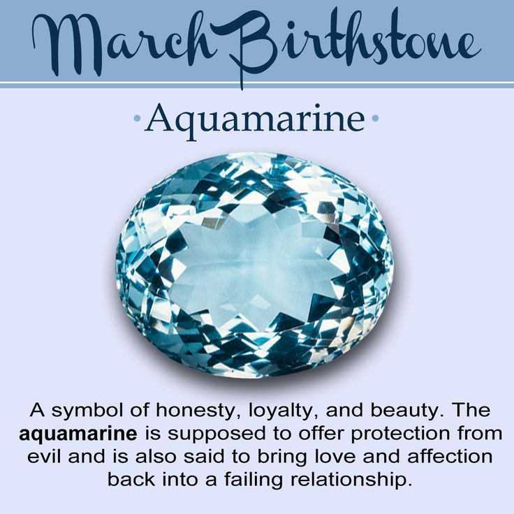 Birthstone for March and Its Meaning Aquamarine is the