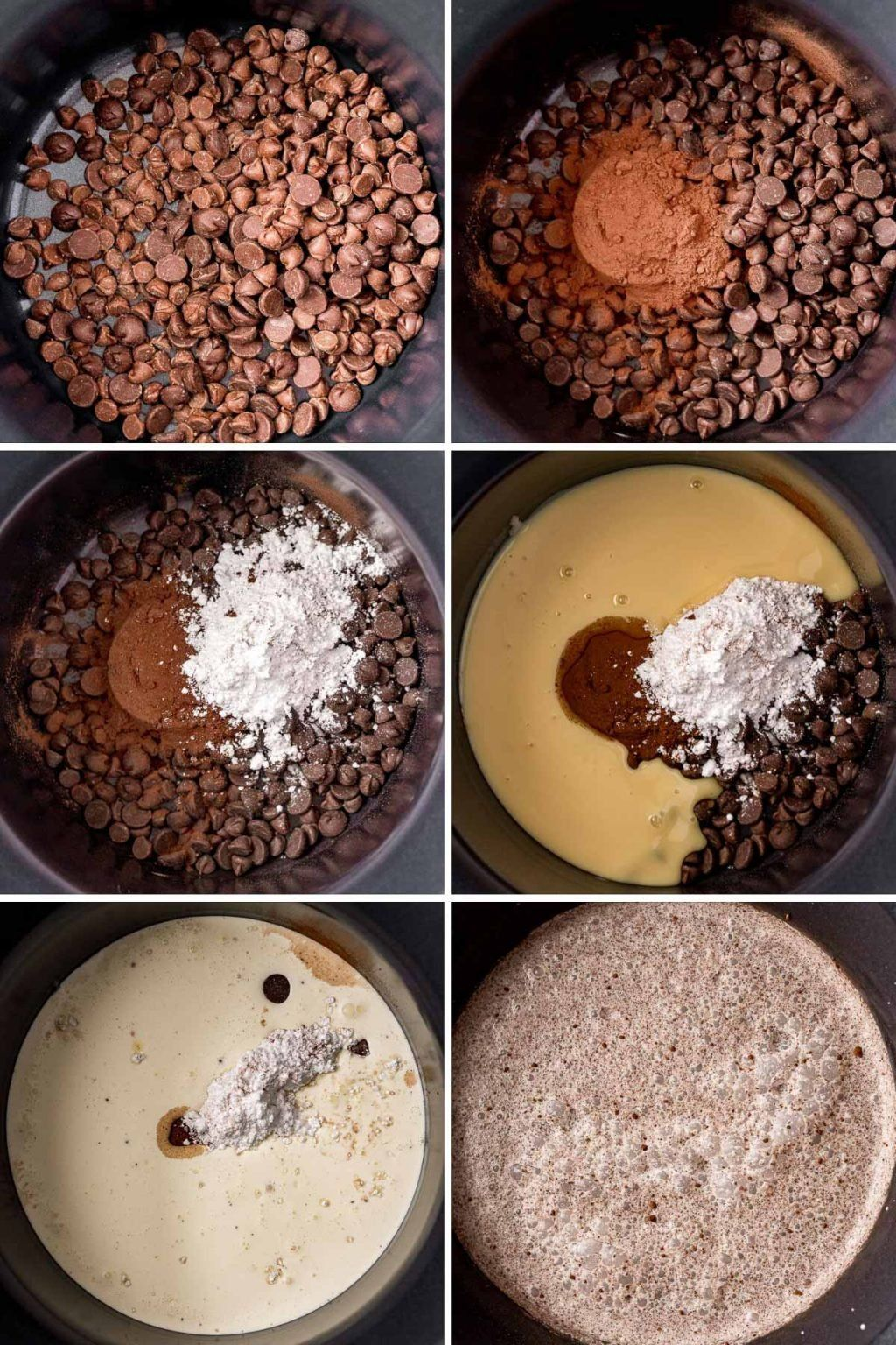 Crockpot Hot Chocolate Is Made With Heavy Cream Milk Sweetened Condensed Milk Chocola In 2020 Crockpot Hot Chocolate Hot Chocolate Recipes Rich Hot Chocolate Recipe