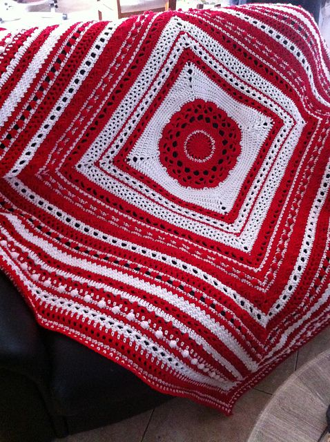 Stitch Sampler pattern by Jean Holzman | Häkeldecke, Decken und Häkeln