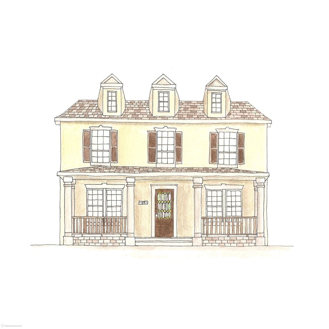 49. Brown House | Rebecca Horne, illustration