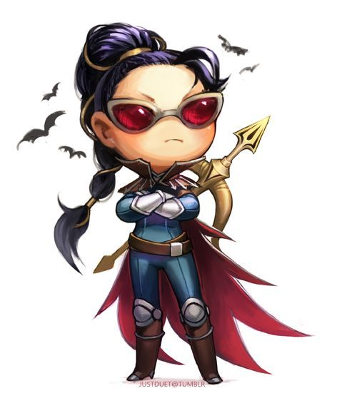 Vayne From League Of Legends Cute Chibi In 2019 Lol