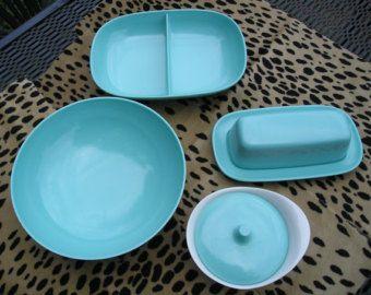 1950u0027s Melmac-Style Retro Speckled Melamine Dishes & 1950u0027s Melmac-Style Retro Speckled Melamine Dishes | Grey plates ...