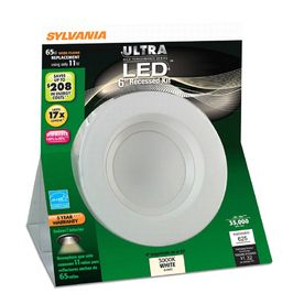 brand new 52ea4 d28b6 SYLVANIA White Integrated LED Remodel Recessed Ceiling ...