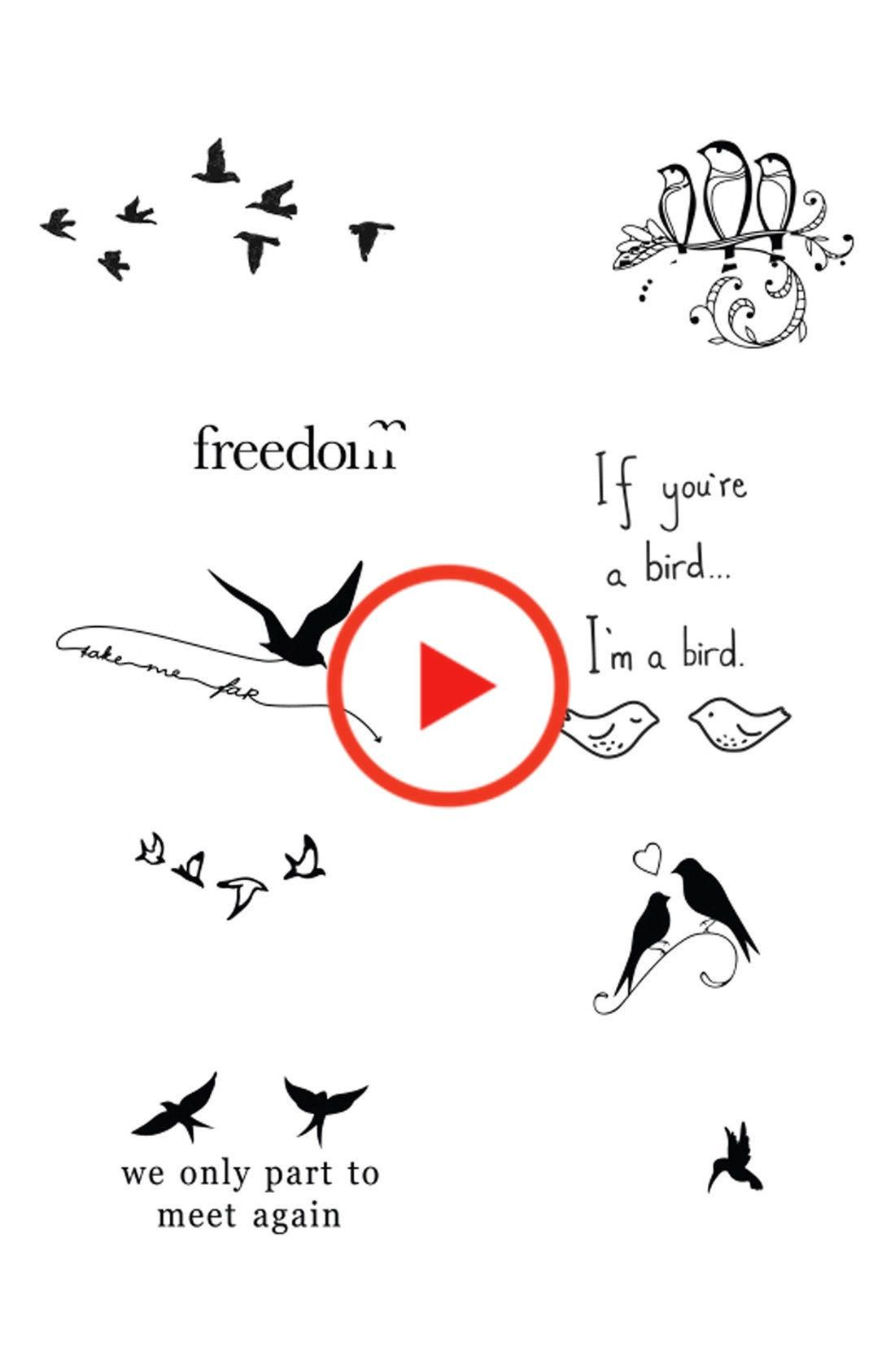 Tattify Bird Is The Word Temporary Tattoos Nordstrom Temporary Tattoos Words Cute Little Girl Hairstyles