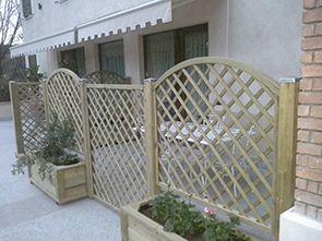 Grigliati decorativi in legno per arredo giardino - Edilgarden ...