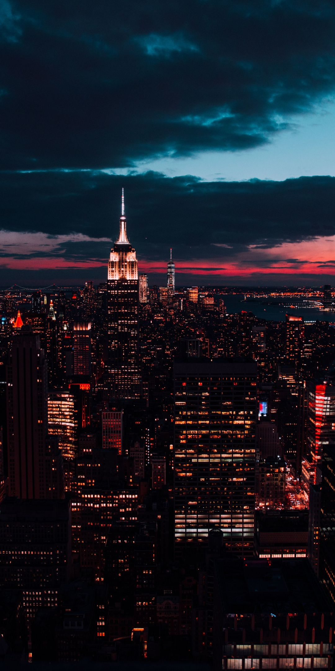 New York Buildings Night Cityscape 1080x2160 Wallpaper City Wallpaper New York Wallpaper City Aesthetic