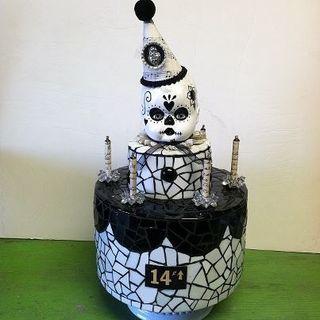 halloween mosaic cake