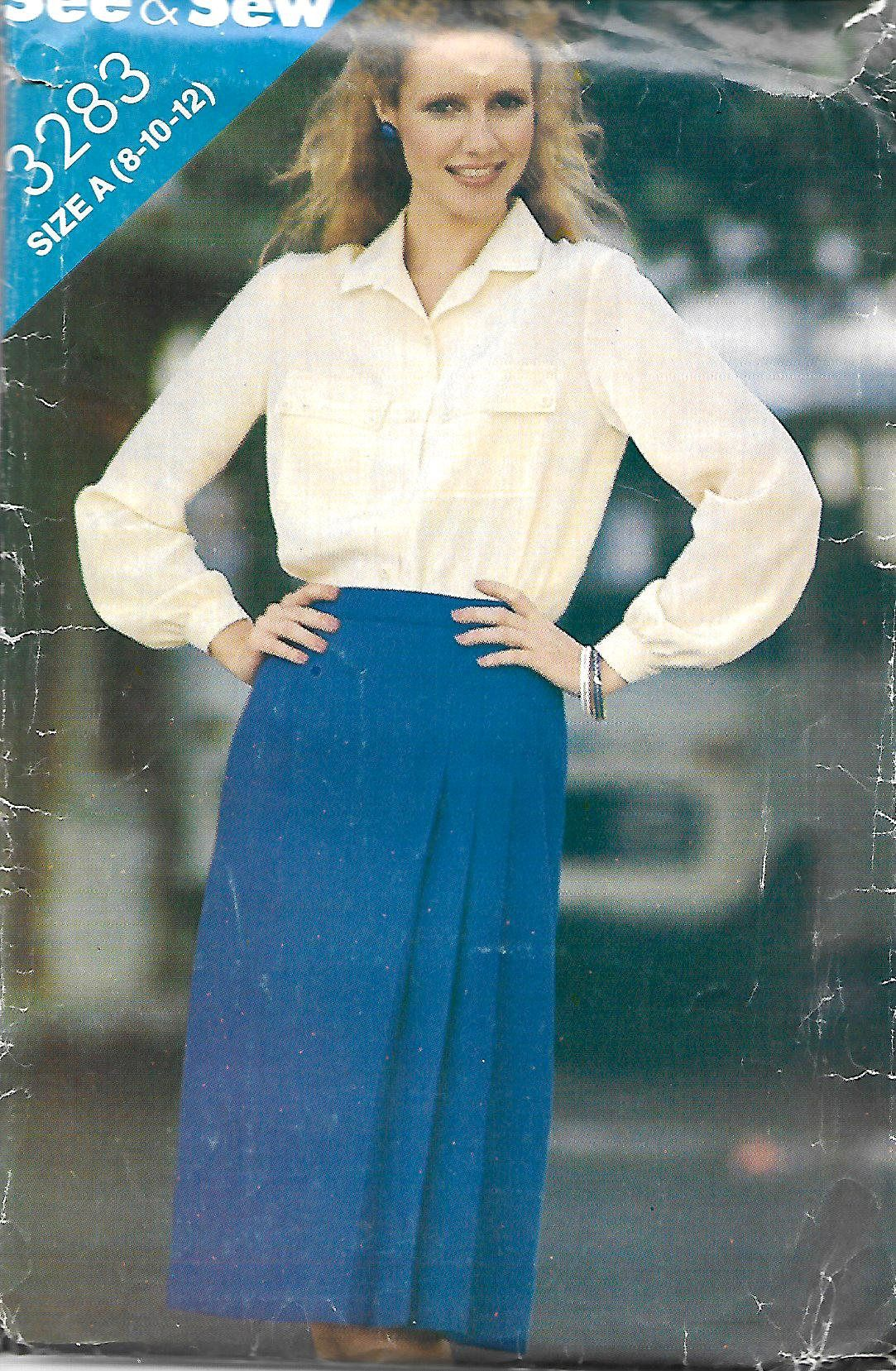 Butterick See & Sew 3283 Misses Blouse And A-line Front Pleated ...