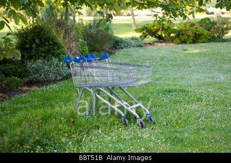Abandoned shopping trolleys Stock Photo