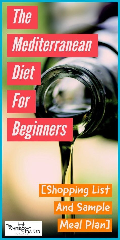 Mediterranean Diet Food & Shopping List: [How To Start One Of The Best Diets Ever] - The White Coat Trainer