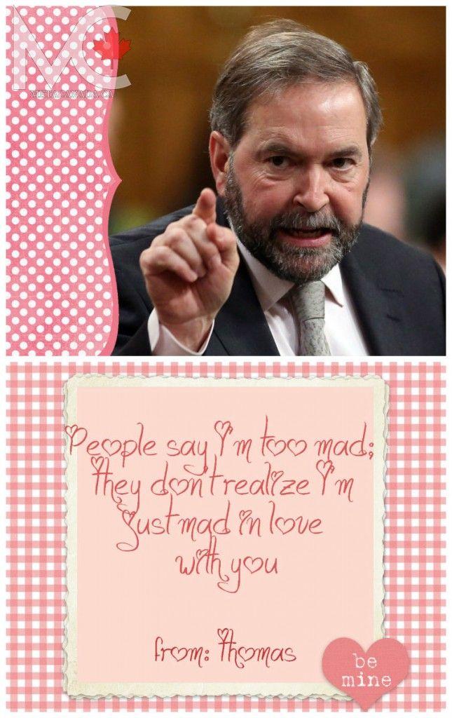 Thomas Mulcairs Valentines Day Card canada – Thomas Valentine Cards
