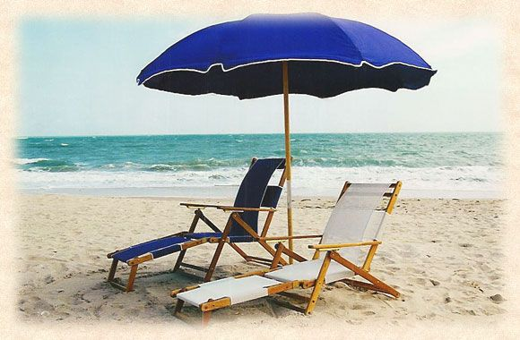 Canvas 7 1 2 Metal Frame Beach Umbrella With Wood Pole Umbrellas