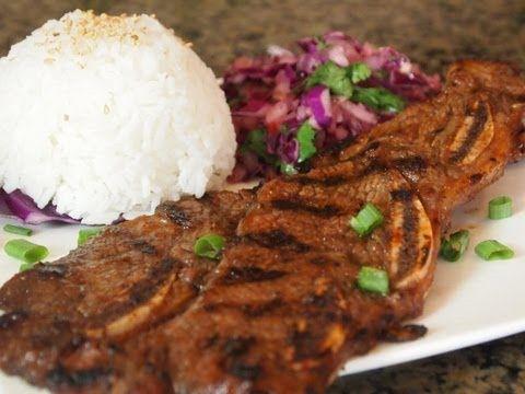 Hawaiian Style Short Ribs On The Grill Hawaiian Plate Lunch Youtube Bbq Beef Short Ribs Rib Recipes Beef Short Rib Recipes