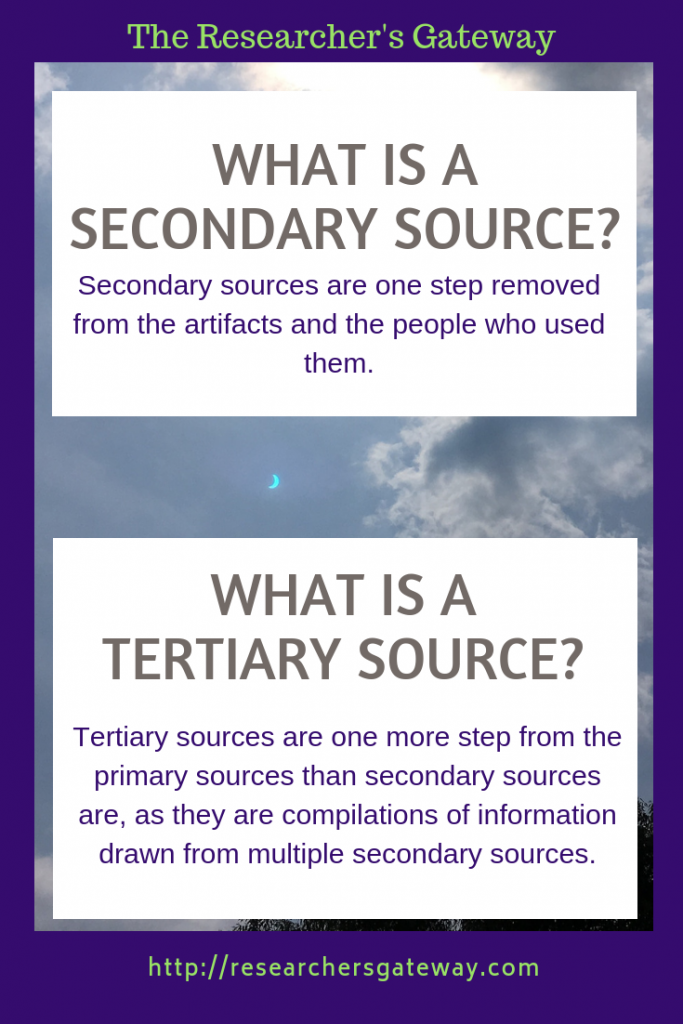 What Are Secondary And Tertiary Sources The Researcher S Gateway Secondary Source Primary And Secondary Sources Secondary