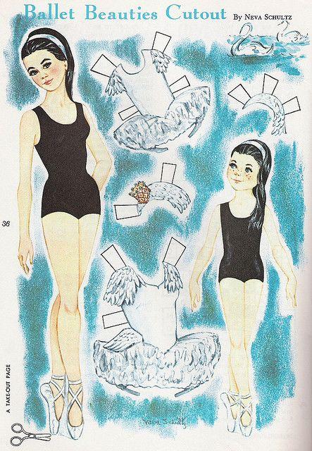 vintage ballerina paper dolls paper doll ballet paper dolls paper doll house paper. Black Bedroom Furniture Sets. Home Design Ideas